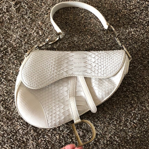 Limited edition white python Dior bag
